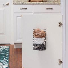 Household Essentials Cabinet Door Trash Bag Organizer Dispenser