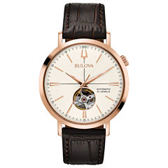 Bulova Mens Brown Strap Watch-97a136