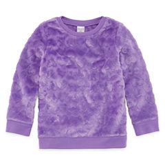 Okie Dokie Long Sleeve Hearts Sweatshirt - Toddler Girls