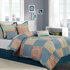 Options Amias 7-pc. Reversible Comforter Set