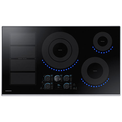 Samsung 36 Induction Cooktop with 5 Elements and Virtual Flame™