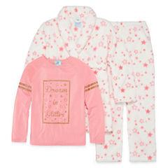 Baby Buns 3-pc. Pajama + Robe Sets Girls