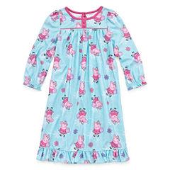 Long Sleeve Peppa Pig Nightgown-Toddler Girls