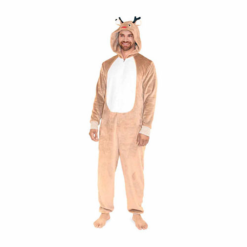 North Pole Trading Co. Reindeer One Piece Pajama- Men's