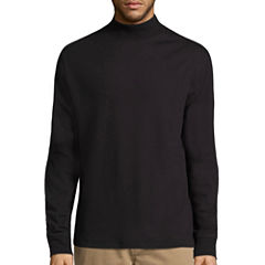St. John's Bay® Long-Sleeve Mockneck Shirt