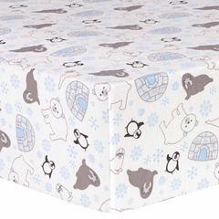 Trend Lab Igloo Friends Flannel  Crib Sheet