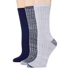 Mixit 3 Pair Super Soft Crew Socks - Womens