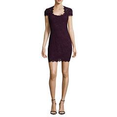 Jump Girl Short Sleeve Bodycon Dress-Juniors