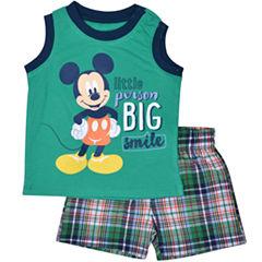 2-pc. Mickey Mouse Short Set Baby Boys