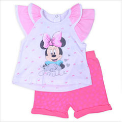 2-pc. Minnie Mouse Short Set-Infant Girls