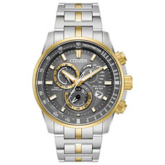 Citizen Mens Two Tone Bracelet Watch-At4124-51h