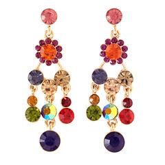 Bijoux Bar Multi Color Drop Earrings