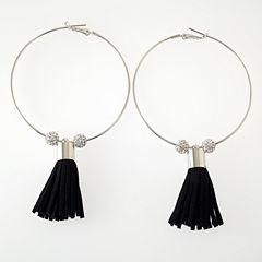 Bijoux Bar Clear Hoop Earrings