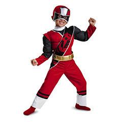 Red Ranger ninja Steel Toddler Muscle Costume