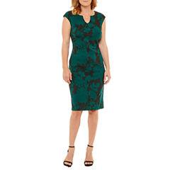 Liz Claiborne Sleeveless Jacquard Sheath Dress