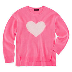 Limited Too Long Sleeve Heart Graphic Sweater - Girls' 7-16