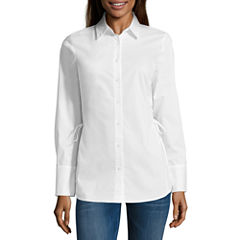 Project Runway Lace Up Side Tunic Shirt