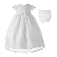 Keepsake® Christening Dress and Hat - Girls newborn-12m
