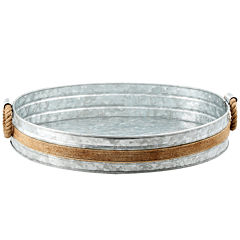 Cambridge® Shiloh Galvanized and Rope Bar Tray