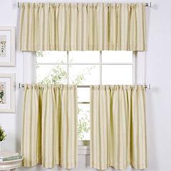 Updated Ticking Kitchen Curtains