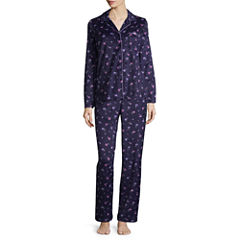 Adonna Microfleece Notch Collar Pant Pajama Set