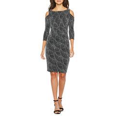 Melrose Elbow Sleeve Sheath Dress