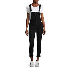 Tinseltown Sleeveless Overalls-Juniors
