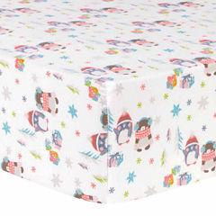 Trend Lab Winter Wishes Flannel  Crib Sheet