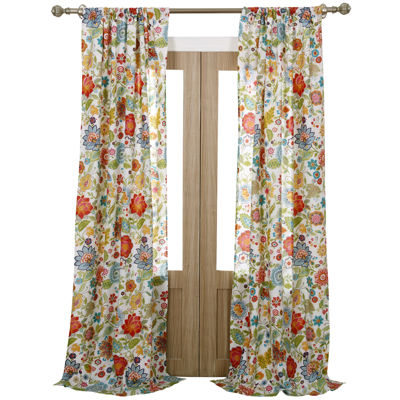 greenland home fashions astoria floral 2pack curtain panels - Greenland Home Fashions