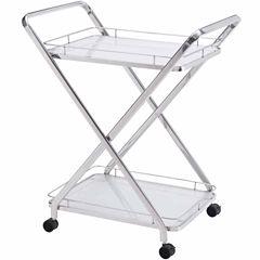 Zuo Modern Glass-Top Serving Cart