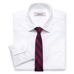 IZOD® Shirt and Clip-On Tie Set - Boys 8-20 and Husky