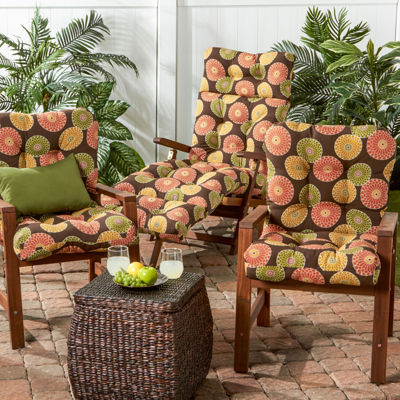 outdoor seatback chair cushion