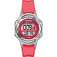 Marathon By Timex Womens Red Strap Watch-Tw5m113009j