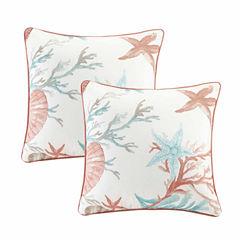 Madison Park Pacific Grove Cotton Square Throw Pillow Pair