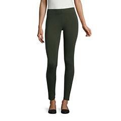 Mixit Duffle Green Knit  Leggings - Tall