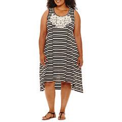 One World Apparel Sleeveless Sheath Dress-Plus