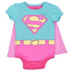 2-pc. Supergirl Bodysuit Set-Baby Girls