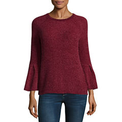 a.n.a. 3/4 Sleeve Chenille Crew Neck Pullover Sweater