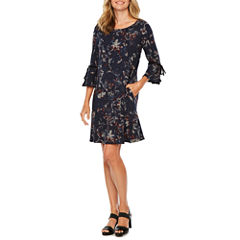 Alyx Long Sleeve Floral A-Line Dress
