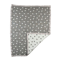 Living Textiles Sketched Hearts Baby Blankets