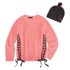 Limited Too Long Sleeve Lace Up Cable Knit Sweater - Girls' 7-16