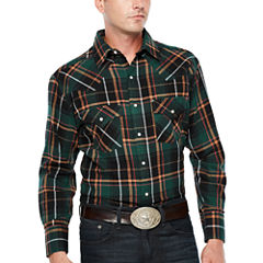 Ely Cattleman Long Sleeve Flannel Western  Shirt