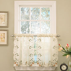 Rosemary Rod-Pocket Window Tiers