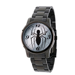 Spiderman Mens Black Strap Watch-Wma000208