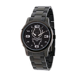 Avengers Mens Black Strap Watch-Wma000214