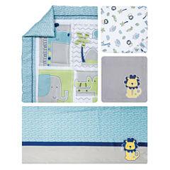 Trend Lab Jungle Roar 4-pc. Modern Crib Bedding Set