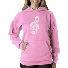 Los Angeles Pop Art Women's Hooded Sweatshirt -Music Note - Plus