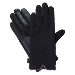 Isotoner Qulited Textured Glove W/ Smartouch Technology