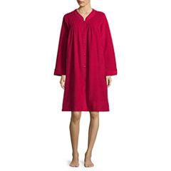 Collette by Miss Elaine Long Sleeve Brushback Terry Robe