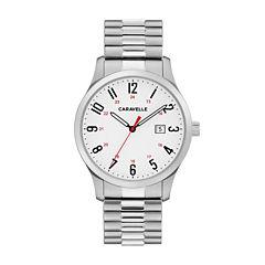 Caravelle Mens Silver Tone Bracelet Watch-43b153